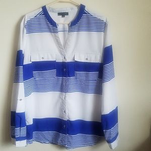 Notations striped size Large shirt